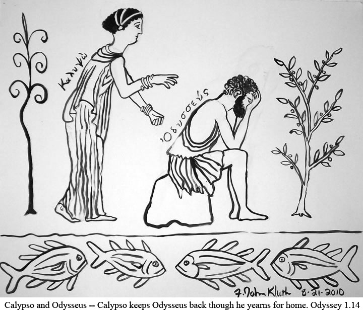 Zeus Sends Hermes To Calypso With Orders That She Release Odysseus Grudgingly Complies Is Given Much Trouble By Poseidon